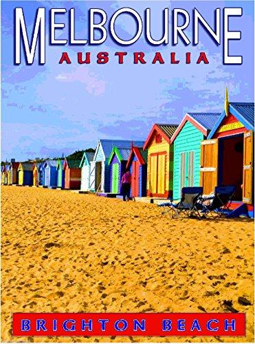 Melbourne Brighton Beach Australian Australia Travel Advertisement Art Poster