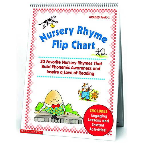 SCHOLASTIC TEACHING RESOURCES NURSERY RHYME FLIP CHART (Set of 3) by Scholastic