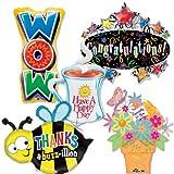 LuftBalloons Everyday Message Shape Balloon Profitpak 10 pk