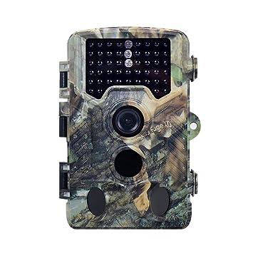 Cámara Trail, 1080P 16MP HD Vida Silvestre Caza CAM Con Movimiento De Visión Nocturna Activada
