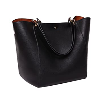 YAAGLE PU Leather Large Totes Shoulder Bag With Removable Inside ...