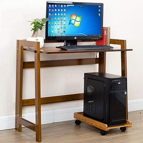 Mesa Perezosa: Mesa Plegable de Bambú, Escritorio de Computadora ...