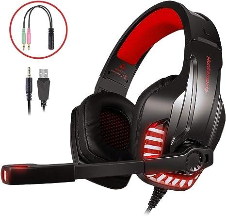 LATEC Auriculares Gaming, Cascos Gaming Microfono para PS4 Xbox ...