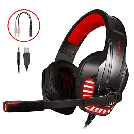 Auriculares Gaming, LATEC Cascos Gaming Microfono para PS4 Xbox ...