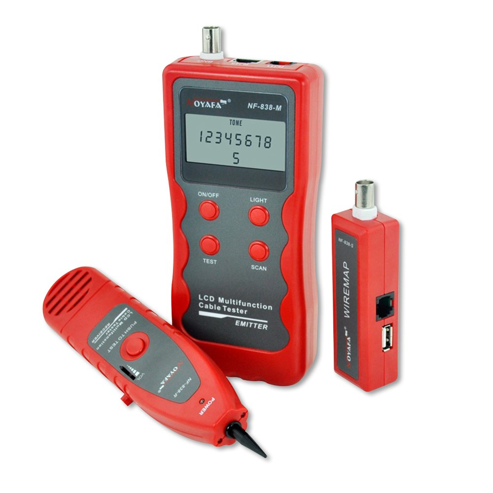 Noyafa D3IN0028 NF-3468 4 in 1 Network Cable Tester RJ45 RJ11 BNC