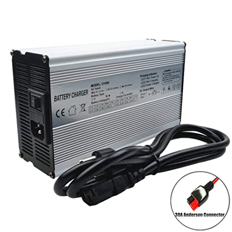 48V Charger 54.6V 10A Charger 48V Li-ion Battery Charger 48V Lithium Charger Fast Charger Scooter/E-bike/boat/motorcycle Battery Charger with Anderson ...