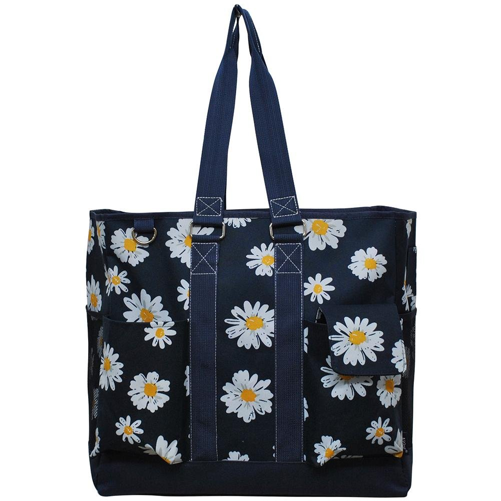 NGIL All Purpose Organizer Tall Tote Bag Spring 2018 Collection (Daisy Navy)