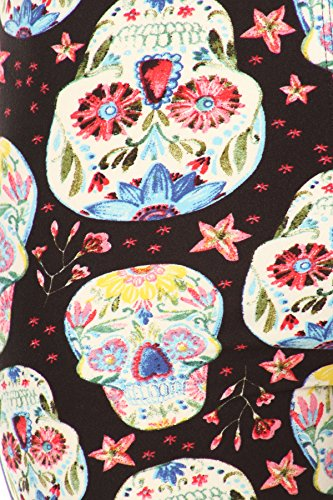 iZZYZX-Womens-Popular-Skulls-Characters-Printed-Leggings-For-Regular-Plus-Women-220-Animal-Birds-Holidays-Christmas