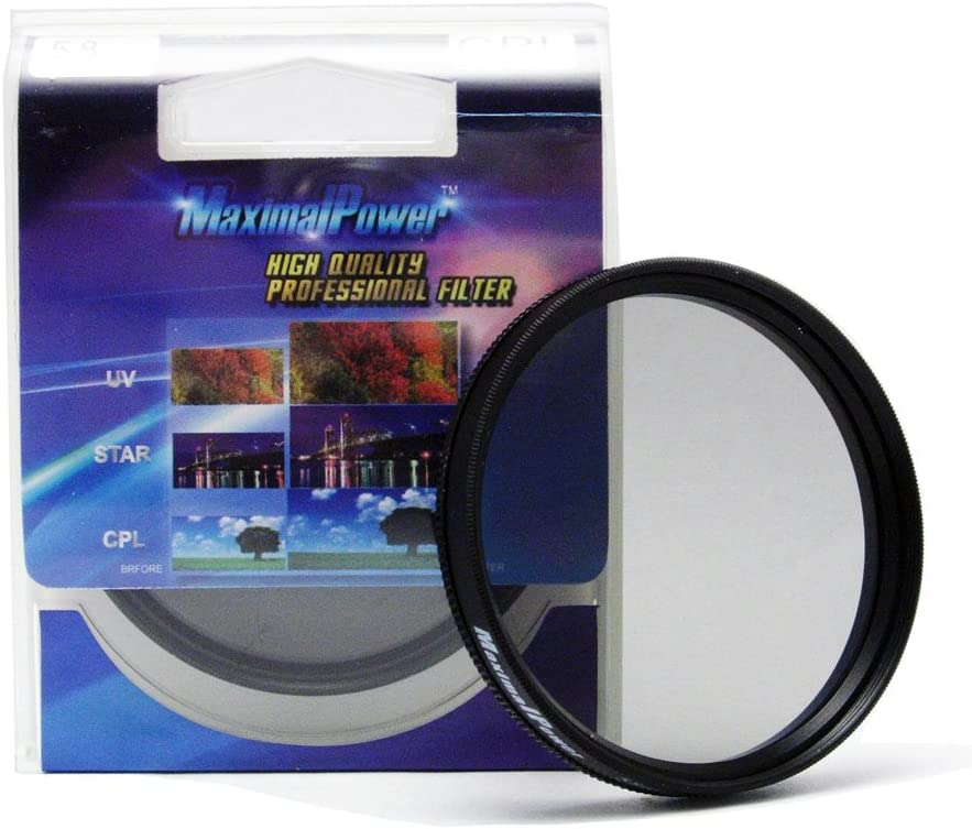 Maximal Power 49mm Circular Polarizer Filter//CPL Filter