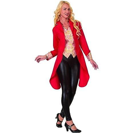 Disfraz de Dama Rojo, Chaqueta de Cola con Chaleco, Traje de ...