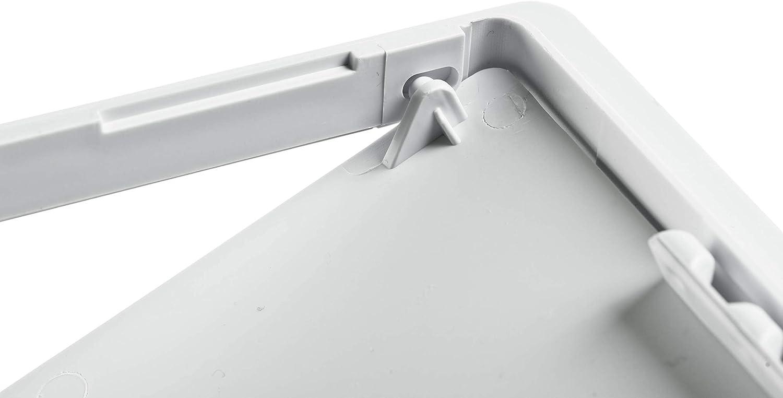 Revisionsklappe 150 x 225 mm Revisionst/ür 15x22,5 cm Kunststoff Trockenbau Gipskarton Wartungsklappe Weiss Feuchtraumgeeignet unterputz Klappe