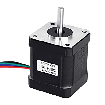 Nema 17 Stepper Motor,3PCS 0.4A Holding Torque 4-Lead 1.8 Deg 42 Stepper Motor Nema 17 for 3D Printer or CNC Router XYZ 40N.cm