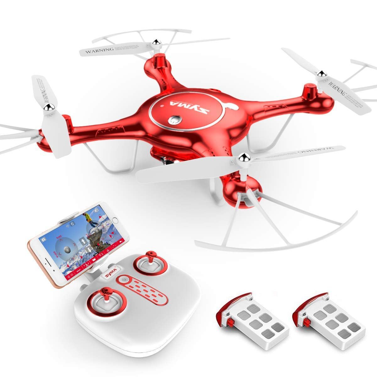 CDM product Goolsky Syma X5UW Wifi FPV Quadcopter 720P HD Camera RC Drone with Barometer Set Height Function and One Extra Battery RTF big image