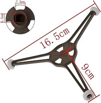 Agger Soporte microondas Soporte Universal Horno microondas con una Chapa de fijaci/ón de Triple 24.5cm Brazo de Soporte