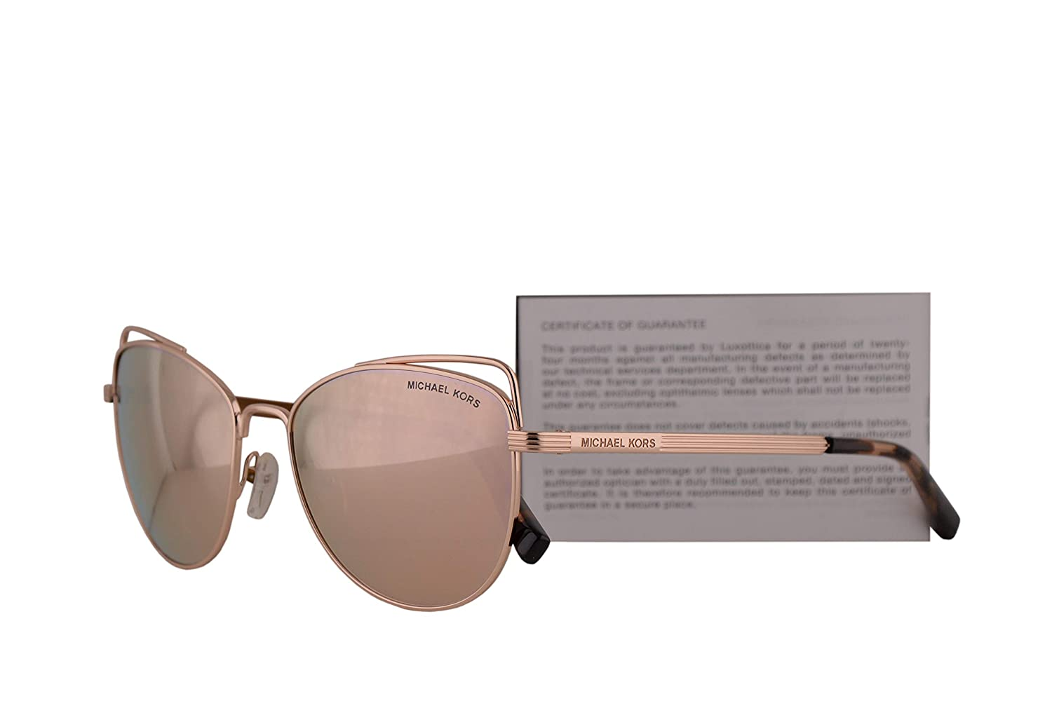 6417c04be943 Michael Kors MK1035 St. Lucia Sunglasses Rose Gold w/Liquid Rose Gold  Mirror Lens 55mm 11085A MK 1035: Amazon.co.uk: Clothing