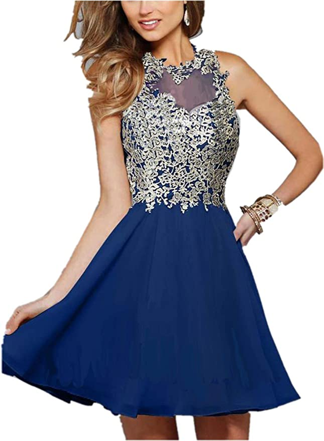 Amazon.com: Ovitina Short With Straps For Juniors Cheap Sweetheart Appliques Uk Prom Dresses: Clothing