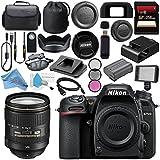 Nikon D7500 DSLR Camera (Body Only) 1581 AF-S 24-120mm f/4G ED VR Lens 2193 + 77mm 3 Piece Filter Kit + Carrying Case + 256GB SDXC Card + Professional 160 LED Video Light Studio Series Bundle