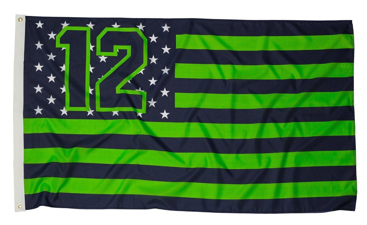 12 Nation Seattle Fan Flag 3 by 5 Feet