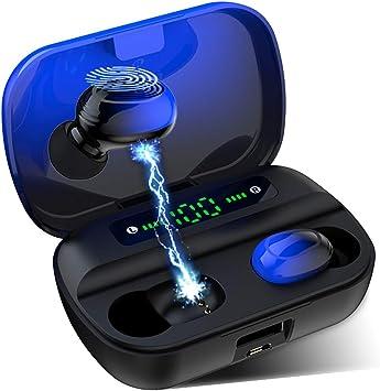 YiYunTE Mini Auriculares Bluetooth 5.0 Inalámbricos Cascos TWS Estéreo In Ear Auriculares Micrófono Manos Libres con Caja de Carga Portátil Deportivos Cascos para iPhone Samsung Huawei Android iOS: Amazon.es: Electrónica