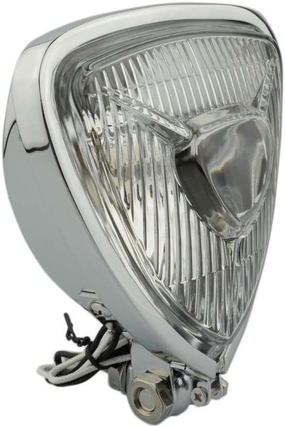 Beautyexpectly Chrome Retro Vintage Motorcycle Headlight Lamp for Harley Bobber Chopper Custom Honda Yamaha Suzuki Kawasaki