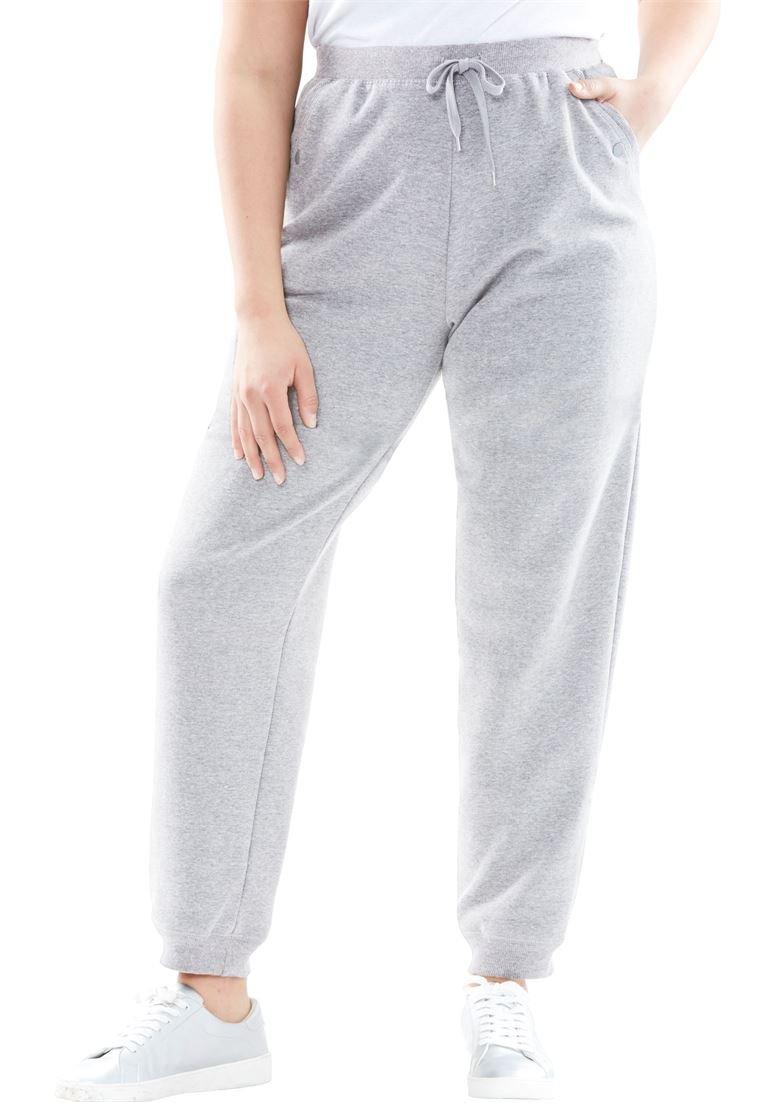 Woman Within Women's Plus Size Fleece Jogger Sweatpant
