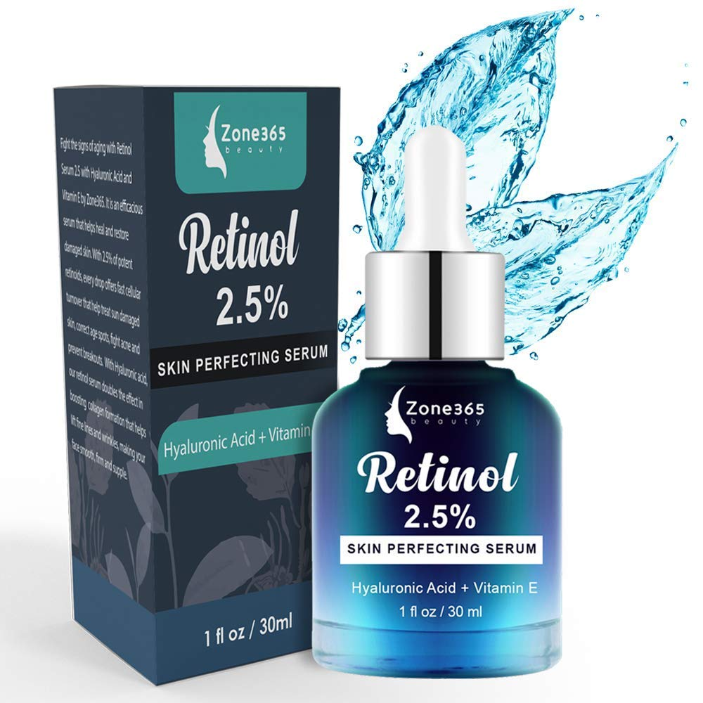 Retinol Serum for Face with Hyaluronic acid and Vitamin E. Anti Ageing Daily Skin Care