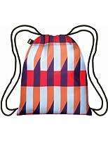 LOQI Geometric Stripes Backpack, Multicolor
