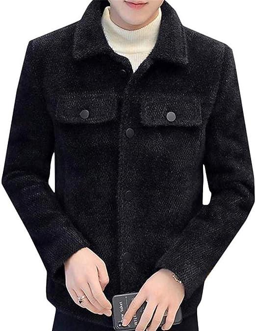 [エージョン]メンズ ジャケット 厚手 ゆったり ショートコート ゆる 無地 チェスターコート 韓国ファッション アウター ストリート 通学