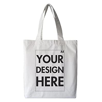 b07b0df5774 Create Your Own Custom Personalised Tote Shopping Bag! Any Text, Any Photo,  Approx A4 Print Size, White Bag