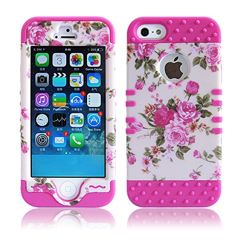 5S Case,iPhone 5S Cover,Carryberry Kaseberry 3 in1 Design Case Skin Cover for iPhone 5 5S 5G