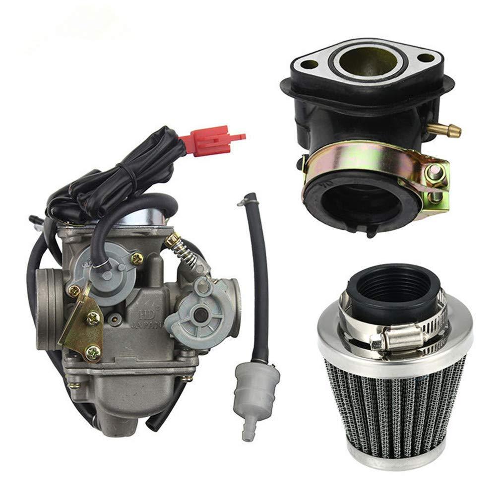und Roller GOOFIT 42mm Luftfilter und Motorrad PD24J 24mm Vergaser Ansaugstutzen GY6 125 CC 150CC Go Kart Moped