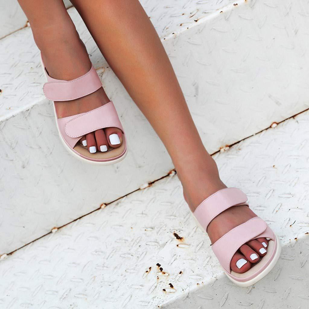Linkay Femme Chaussure Femme /Ét/é Sandale Semelles Douces D/écontract/ée Pantoufles Plates Tongs Dehors Chaussure De Plage Mode 2019