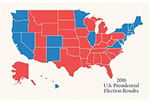 Amazoncom Laminated 2016 US Presidential Electoral College Map