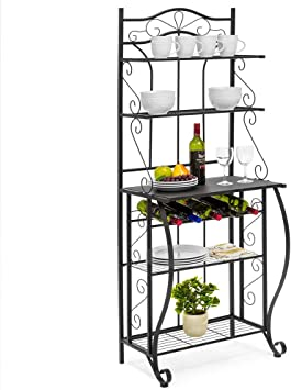 Amazon Com Miyahome Multiuse 5 Tier Metal Kitchen Bakers Rack