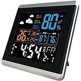 P Prettyia 目覚まし時計 温度カレンダー湿度計付き 大画面 液晶デジタル 目覚まし時計