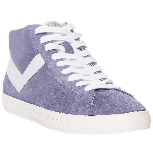Pony Topstar - Zapatillas de Deporte de Ante - Azul, Color Azul, Talla 6 UK: Amazon.es: Zapatos y complementos