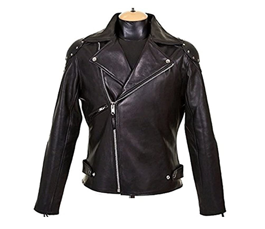 SouthBeachLeather Goose Mad Max Rockansky Biker Leather Jacket