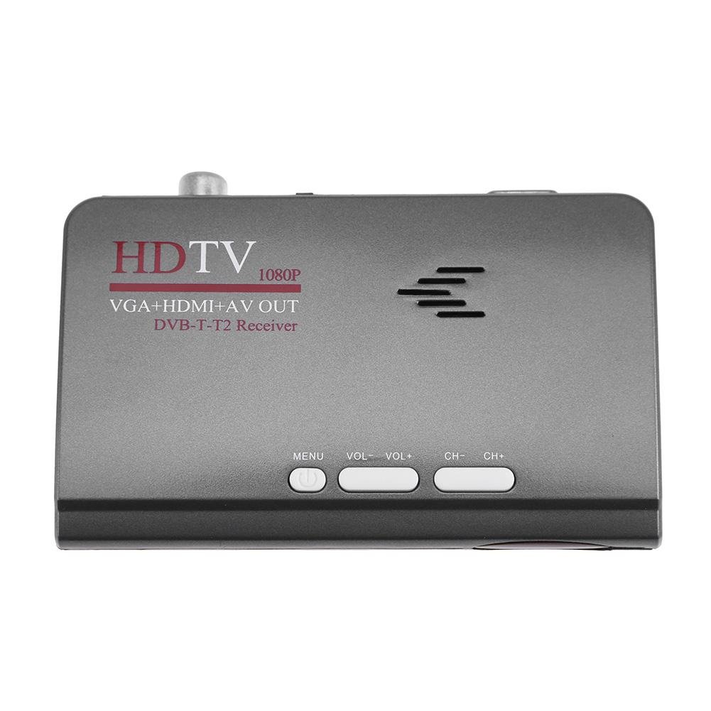 UNIhappy AV to VGA DVB-T-T2 Receiver Digital Terrestrial HDMI 1080P HDTV Tuner (1)