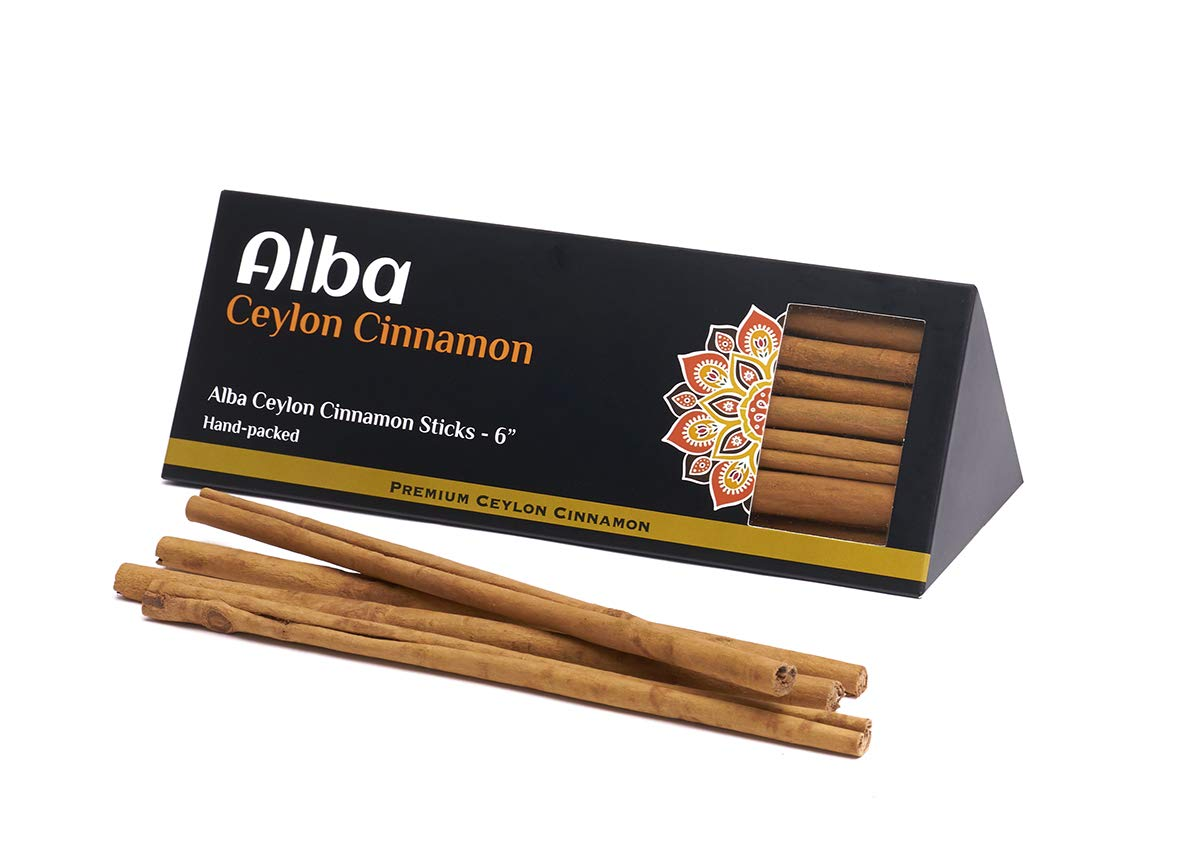 Cinnamon Sticks Organic Ceylon Cinnamon Sticks Alba Grade Real Ceylon Cinnamon sticks A pack of 42 Sri Lankan rolled 6 Inches long Cinnamon Sticks 3.5 oz 100g