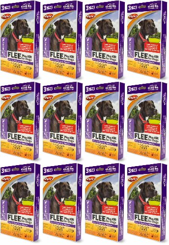 Martin's FLEE Plus IGR For Dogs 45-88lb 3 Month Supply, 12ct (36 Applicators)