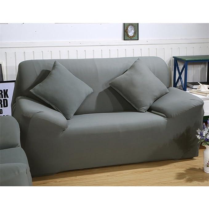 Funda elástica de tela para sofás, de ParaCity, Gris, 2 seater:140-185cm