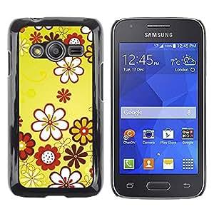 iKiki Tech / Estuche rígido - Design Yellow Floral Flowers - Samsung Galaxy Ace 4 G313 SM-G313F