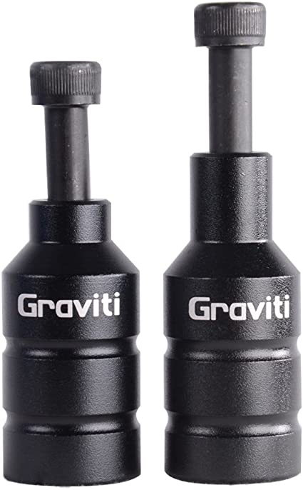 GRAVITI Pro Stunt Scooter Pegs CNC Aluminum Pegs with Strong Axle Hardware for Kick Stunt Scooter Freestyle Stunt Scooters