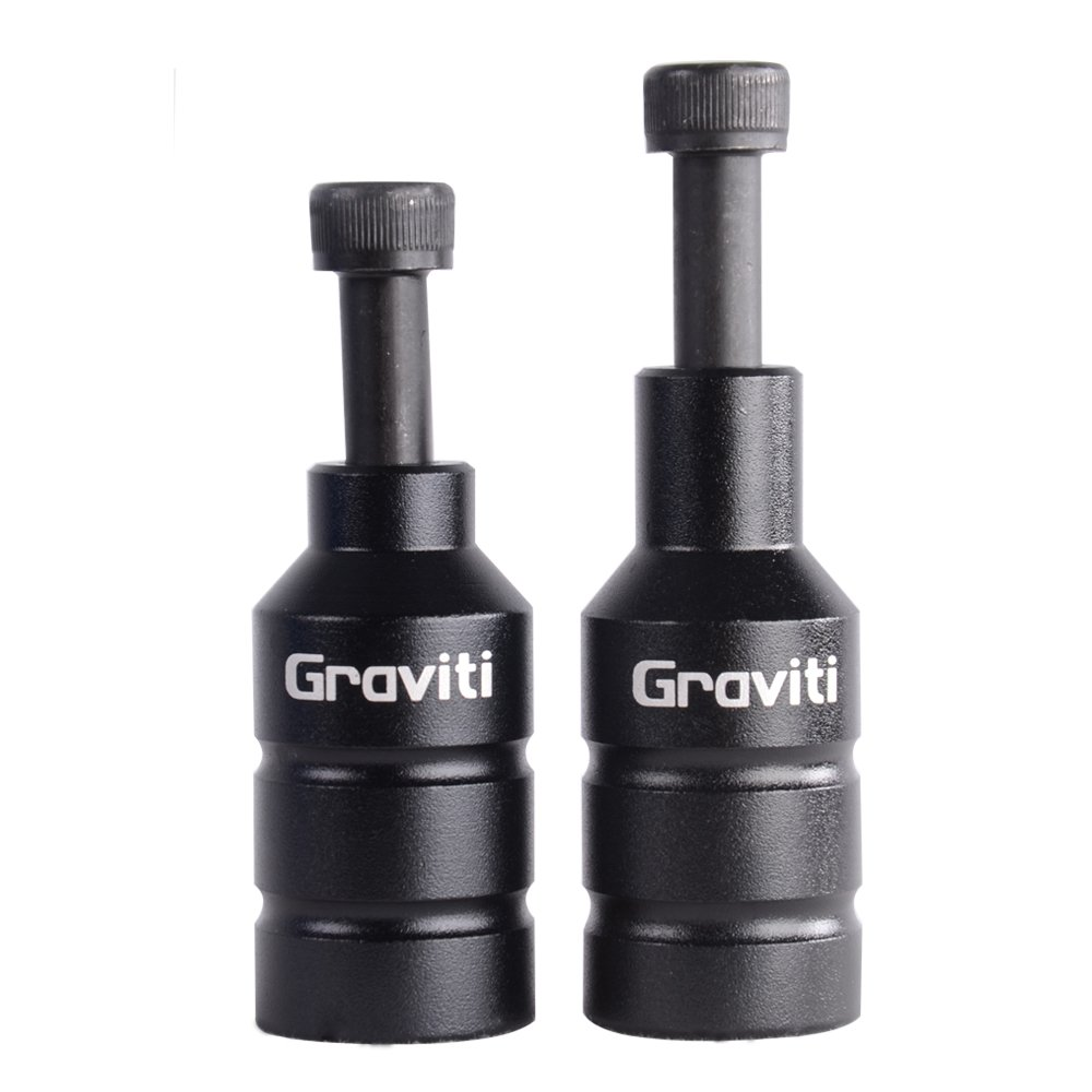 GRAVITI Pro Stunt Scooter Pegs CNC Aluminum Pegs with Strong Axle Hardware for Kick Stunt Scooter Freestyle Stunt Scooters (Black)