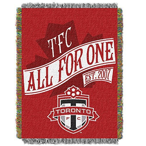 (Northwest 051 Handmade NOR-1MLS051010012RET Toronto FC MLS Woven Tapestry Throw Blanket, 48 x 60, 48