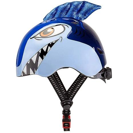 SinceY Casco Infantil, tiburón Dibujo Animado protección contra cataratas Casco de Seguridad Equipo de Deporte