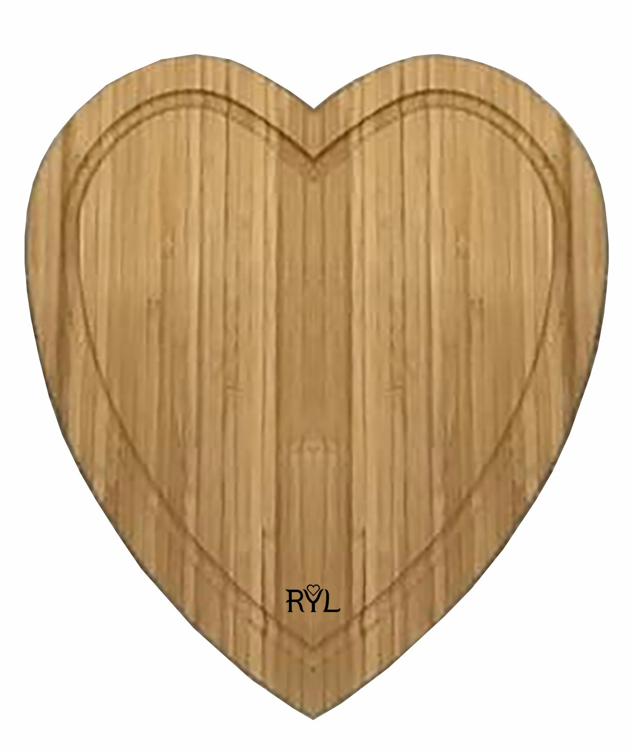Radiate Your Love Bamboo Heart-shaped Cutting Board with Drip Groove, Durable Serving Tray for Cheese and Bread, 12 inches