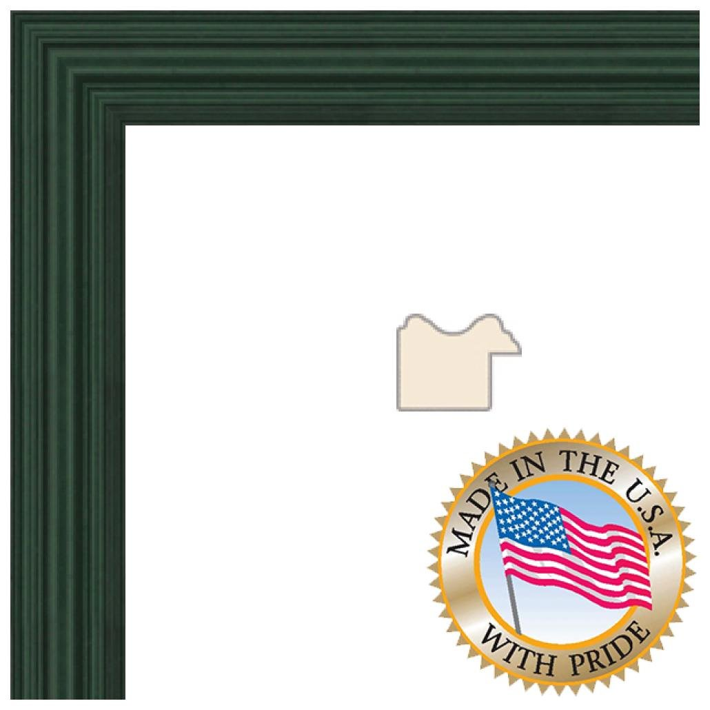 ArtToFrames 11x25 inch Green Stain on Red Leaf Maple Wood Picture Frame, FBPL0066-60823-YGRN-11x25