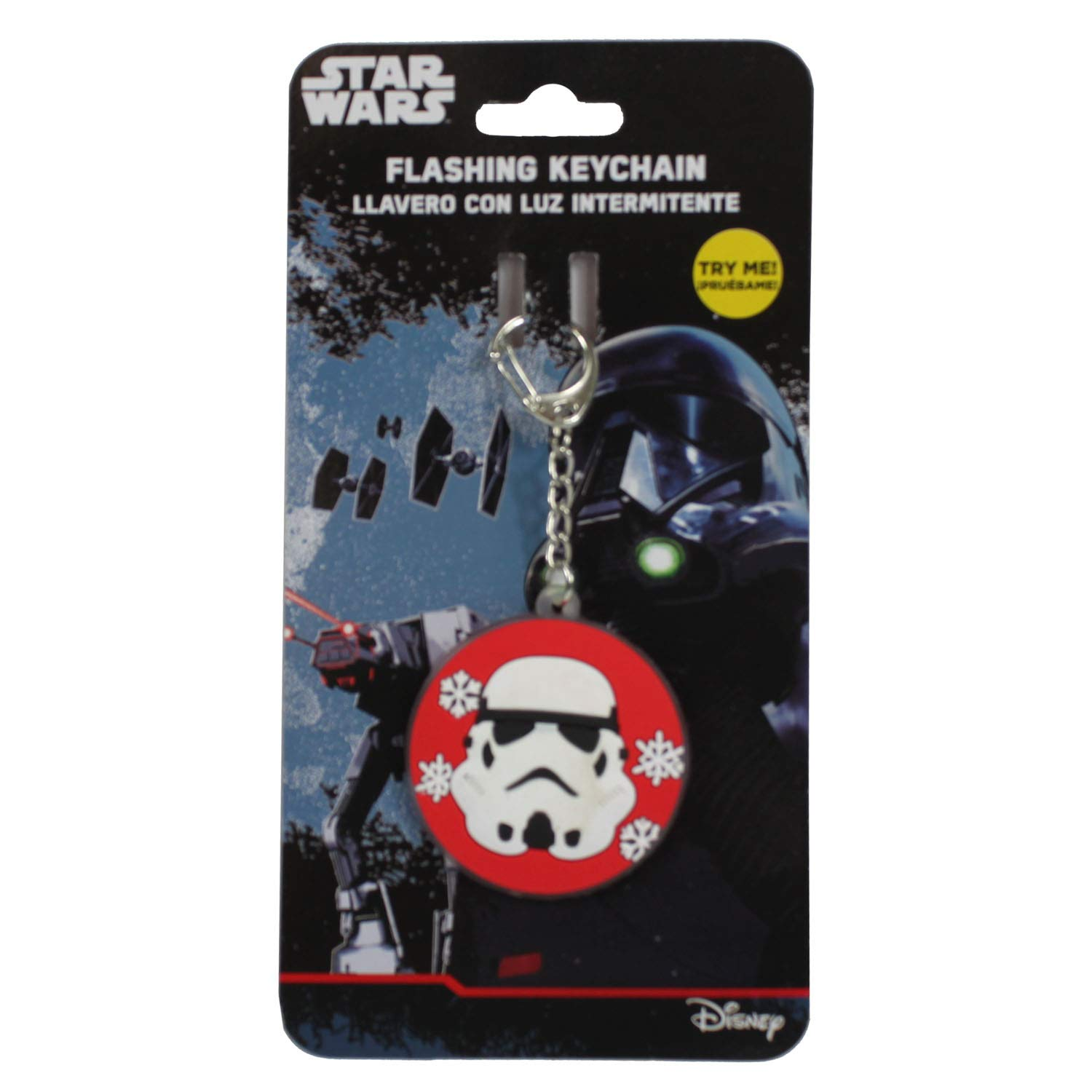Amazon.com: Stormtrooper Flashing Keychain with Snowflakes ...