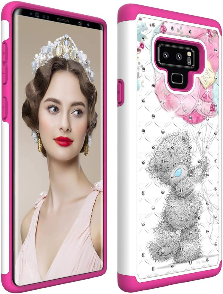 Flip Mirror: Purple Samsung Note 9 Case 2018 COTDINFORCA Mirror Design Clear View Flip Bookstyle Luxury Protecter Shell with Kickstand Case Cover for Samsung Galaxy Note 9